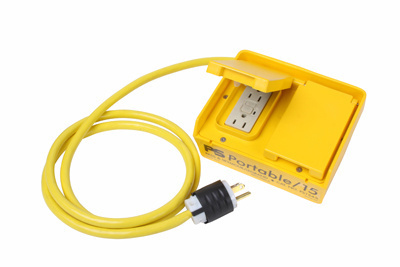 Auto Reset Box-Portable GFCI w/ Four 15A/125V Straight-Blade Outlets
