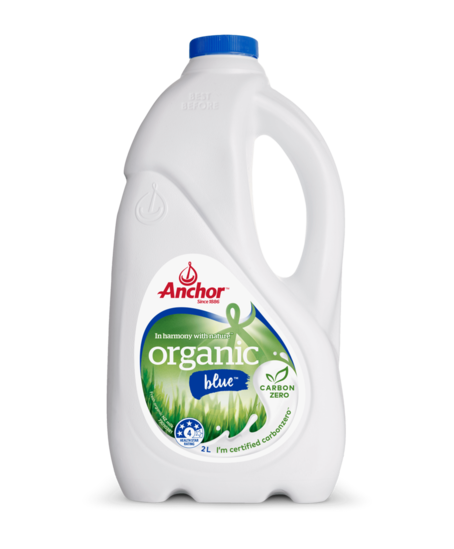 Anchor Organic Blue Milk 2L bottle