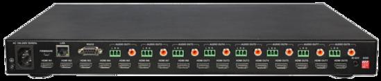 8x8 HDMI 2.0 18G 4K/HDR Matrix Switch w/Audio De-Embed