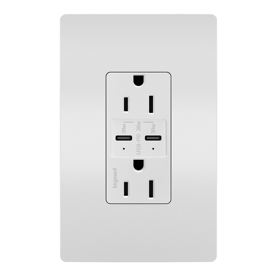 radiant® 15A Tamper-Resistant Ultra-Fast PLUS Power Delivery USB Type-C/COutlet