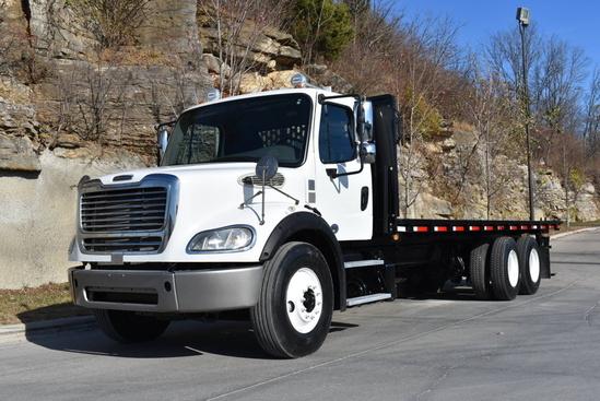 2014 Freightliner M2112 6x4 Flatbed W/Forklift Mount Flatbed W/Forklift Package