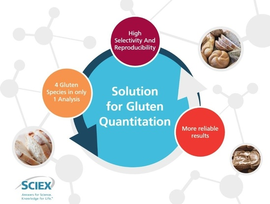 vMethod Application for Gluten Quantitation in Food Matrices using LC-MS/MS v1.0 Disc product photo Front View L