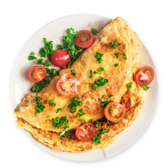 Cheesy Omelette Chicken Wrap