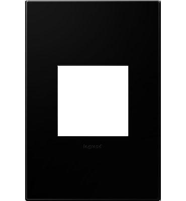 adorne® Black Ink One-Gang Screwless Wall Plate