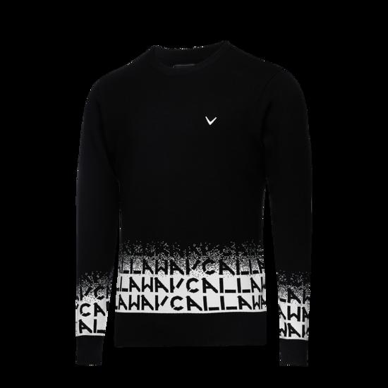 로고 그라데이션 남성 라운드 스웨터