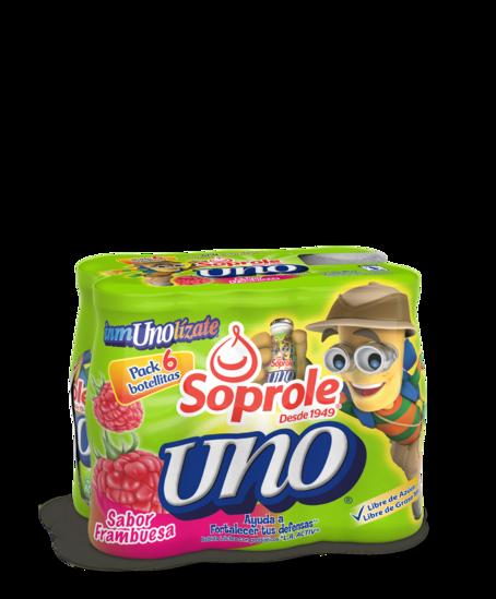 Soprole Uno sabor frambuesa Pack 6