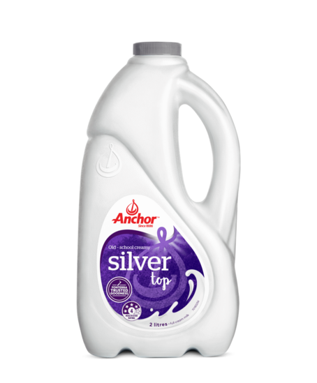 Anchor Silver Top Milk 2L bottle