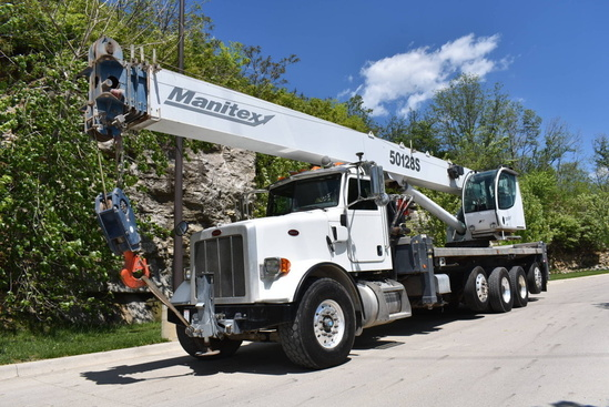 2013 Peterbilt 365 10x4 Manitex 50128S Boom Truck
