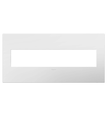 adorne® Gloss White-on-White Five-Gang Screwless Wall Plate
