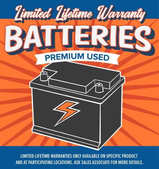 Baterías de Garantía Limitada de por Vida