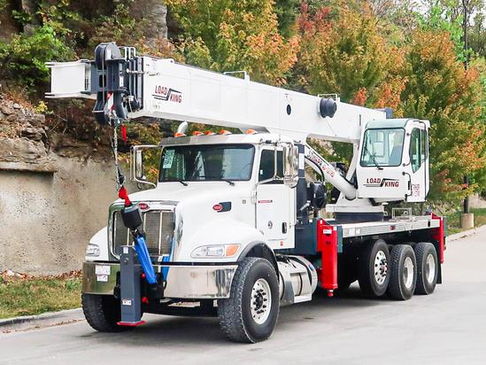 2022 Peterbilt 348 8x4 Load King Stinger 40-127 RS Boom Truck