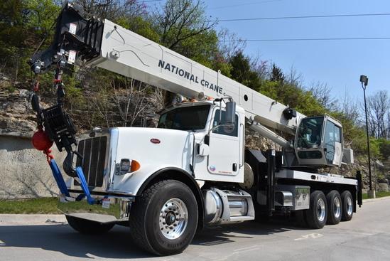 2012 Peterbilt 367 8x6 National NBT55128 Boom Truck