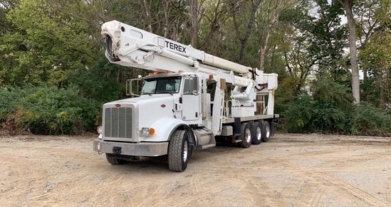 2012 Peterbilt 365 8x6 Terex TM105 Bucket Truck