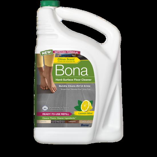 Bona® Hard-Surface Floor Cleaner with Lemon Mint Refill