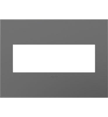 adorne® Magnesium Three-Gang Screwless Wall Plate