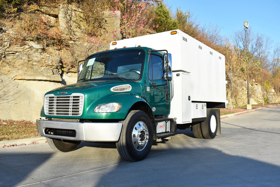 2015 Freightliner M2106 4x2 Chipbox with Hoist Chip Truck