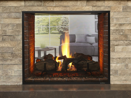 Escape See Through Gas Fireplace Heat, Double Sided Gas Fireplace Insert With Blower