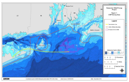 Deepwater wind project area