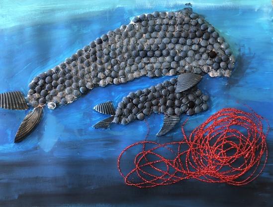 HM 3-5 2-D_ Chloe G., grade 5, FL, _Loreta and Timmy the Blue Whales Eating Krill_.jpg