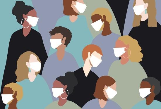 People in masks Illustration  AVIXA