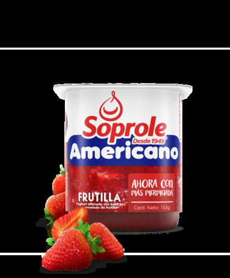 Soprole Yoghurt Americano frutilla