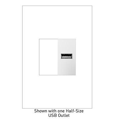 adorne® USB Outlet - Half-Size