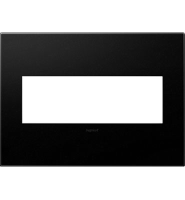 adorne® Graphite Three-Gang Screwless Wall Plate