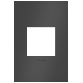 adorne® Satin Black One-Gang Screwless Wall Plate