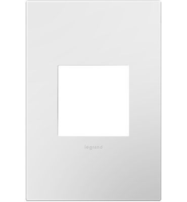 adorne® Gloss White-on-White One-Gang Screwless Wall Plate