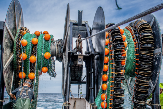 fishing vessel karen elizabeth's twin trawl by calvin alexander