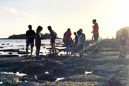 Guam tide pool activity.