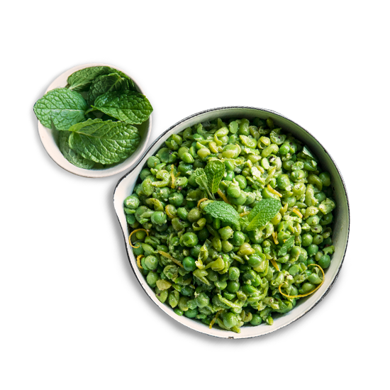 Smashed Peas with Mint Butter Recipe