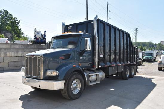 2018 Peterbilt 567 6x4 Palfinger Epsilon W/Debris Body Loader/Grapple Truck