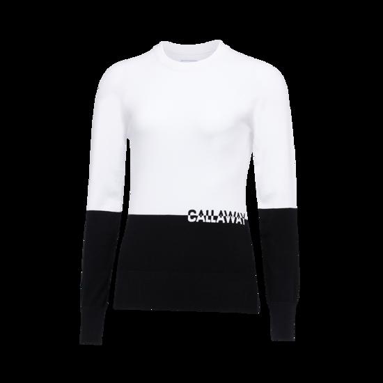 컬러블럭 셋업 라운드 여성 스웨터