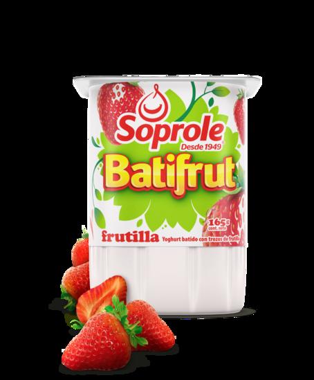 Soprole Yoghurt Batifrut clásico sabor frutilla 165
