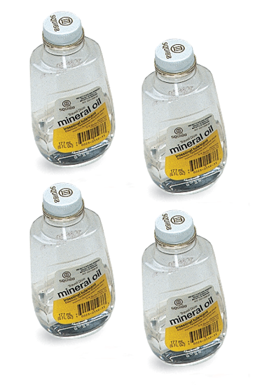 4 oz Bottles of Mineral Oil (Qty 4)