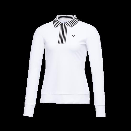 니트 폴로 넥 여성 긴팔 티셔츠
