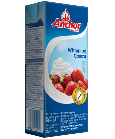 how to use anchor uht whipping cream