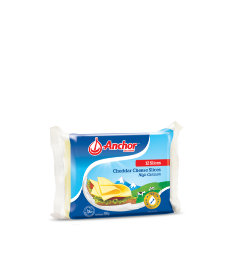 Anchor cheddar cheese slices 200g, 400g