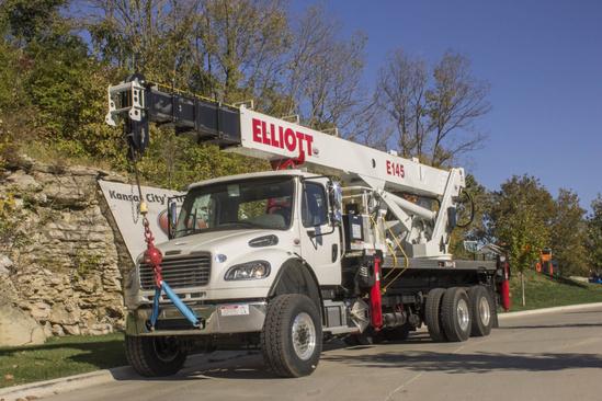 Elliott E145 E-Line Aerial Device on 2019 Freightliner M2106 6x6