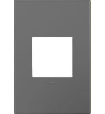 adorne® Magnesium One-Gang Screwless Wall Plate