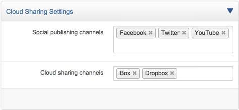 Cloud sharing settings