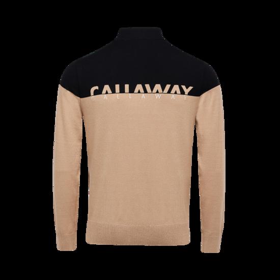 컬러블럭 하이넥 남성 스웨터