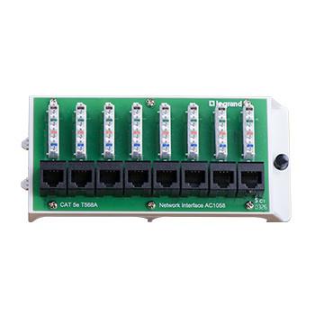 8 Port Cat5e Network Interface Module