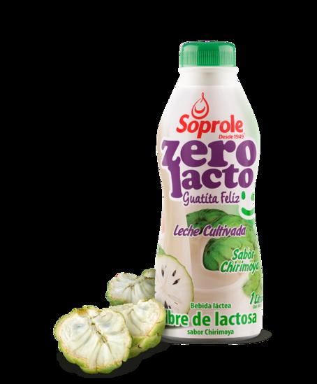 Soprole Zerolacto Leche Cultivada sabor chirimoya 1L