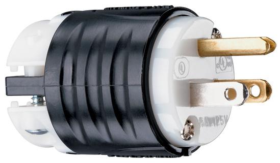15A, 125V Extra-Hard Use Spec-Grade Plug, Black