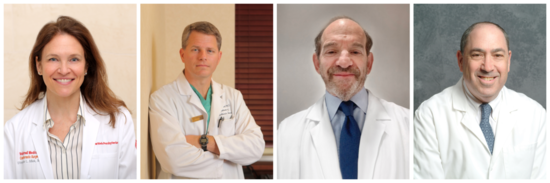 Drs. Stephanie Mick, Leonard Girardi, David Bluementhal, and Richard Cohen