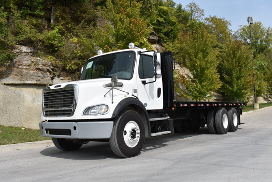 2016 Freightliner M2112 6x4 Flatbed W/Forklift Package