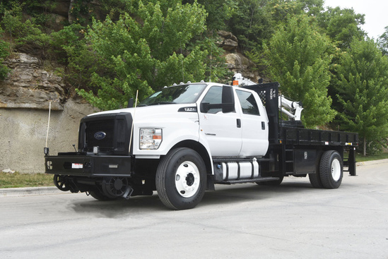 2017 Ford F750 4x2 Parkhurst Stake Bed Rail: Service Truck