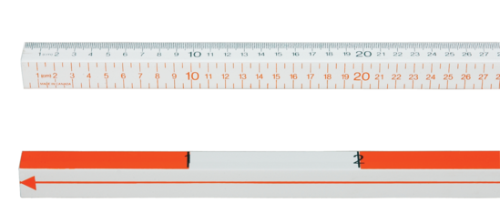 Four-Scale Meter Stick